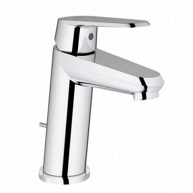Grohe Eurodisc Cosmopolitan Small Basin Mixer Tap with Pop-up Waste Set - 23049002