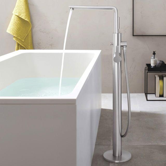 Grohe Lineare Floorstanding Bath Mixer Tap with Shower Handset - 23792001