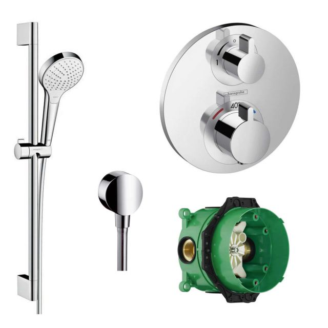 Hansgrohe Design Croma Select S with Ecostat 1 Head Pack