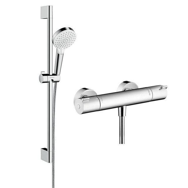 Hansgrohe Ecostat 1001 CL Combi Set 0.65m with Crometta 100 Vario Hand Shower
