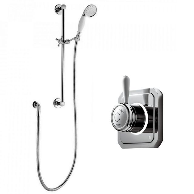 Bathroom Brands Classic 1910 Digital Shower with Slide Rail Kit