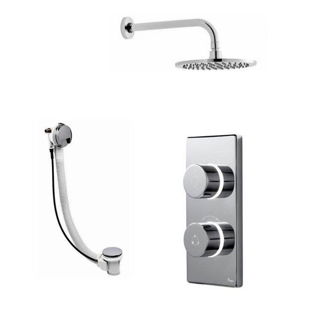 Bathroom Brands Contemporary 2025 Digital Shower Mixer with Wall Mounted Fixed Head and Bath Filler