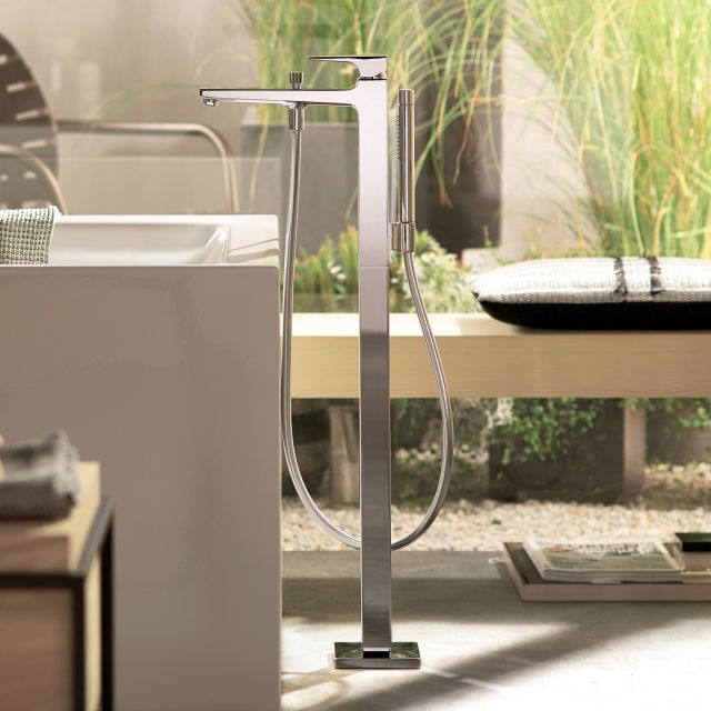 Hansgrohe Metropol Floorstanding Bath Mixer Tap with Handshower
