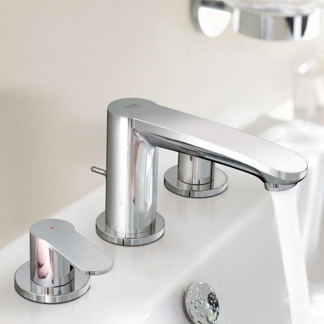 Grohe Eurostyle Cosmopolitan 3 Hole Basin Mixer Tap S-Size