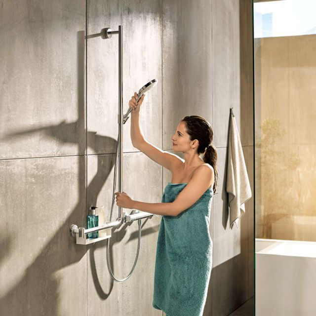 Hansgrohe Raindance Select S 120 3Jet Hand Shower with Unica Comfort Shower Bar