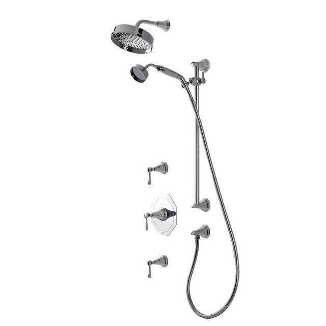 Perrin & Rowe Deco Shower Set Three