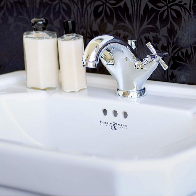 Perrin & Rowe Contemporary Monobloc Basin Mixer with Pop-up Waste