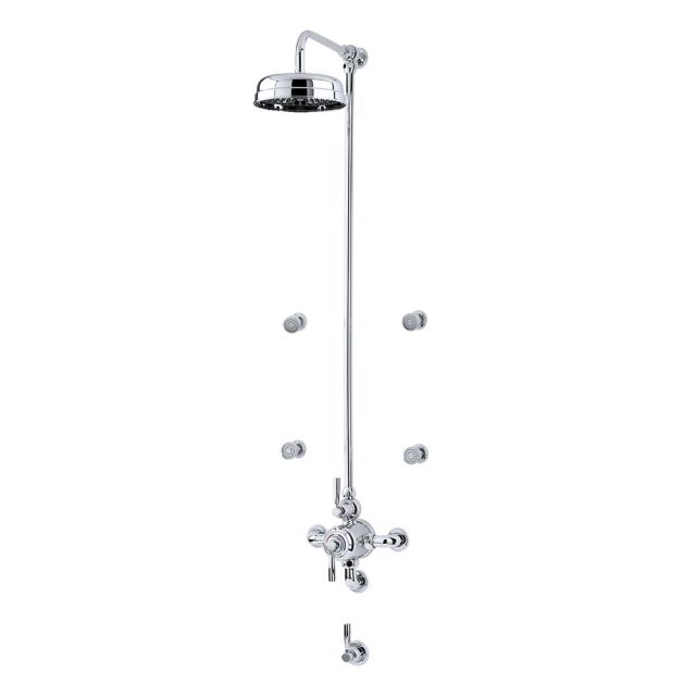 Perrin and Rowe Contemporary Shower Set Seven, with Body Jets - CSSD1