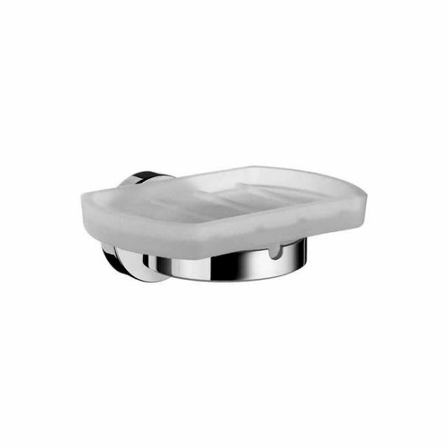 Smedbo Home Holder with glass soap dish - HK342
