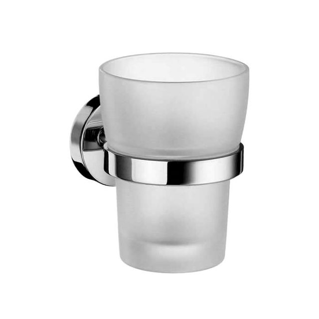 Smedbo Home Holder with glass tumbler