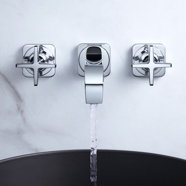 AXOR Citterio E 3-Hole Wall Mounted Basin Mixer Tap