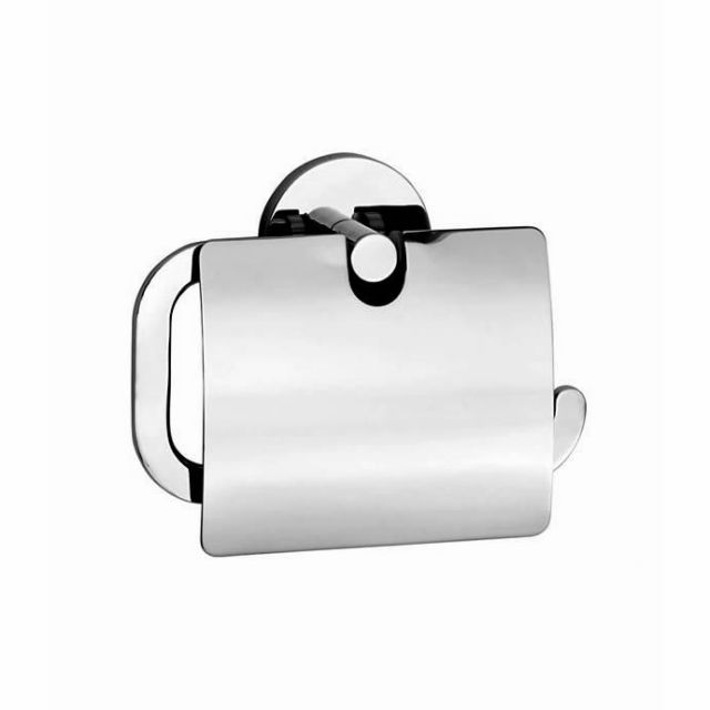 Smedbo Loft Toilet Roll Holder with Lid