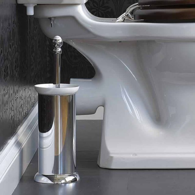 Perrin and Rowe Traditional Floorstanding Toilet Brush Holder