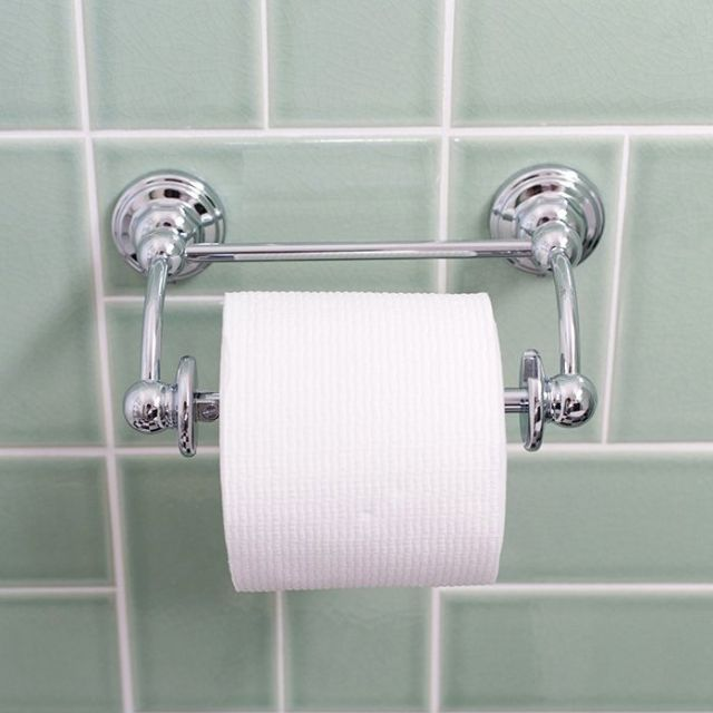 Perrin & Rowe Traditional Pivot Bar Toilet Roll Holder