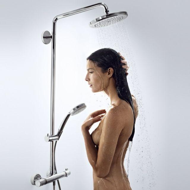 Hansgrohe Round Croma 220 Showerpipe - 88101045