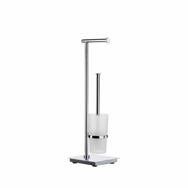 Smedbo Outline Lite Square Toilet Roll & Brush Holder