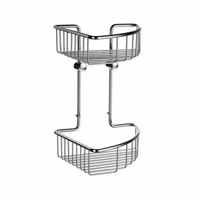 Smedbo Sideline Double Corner Soap Basket 207mm