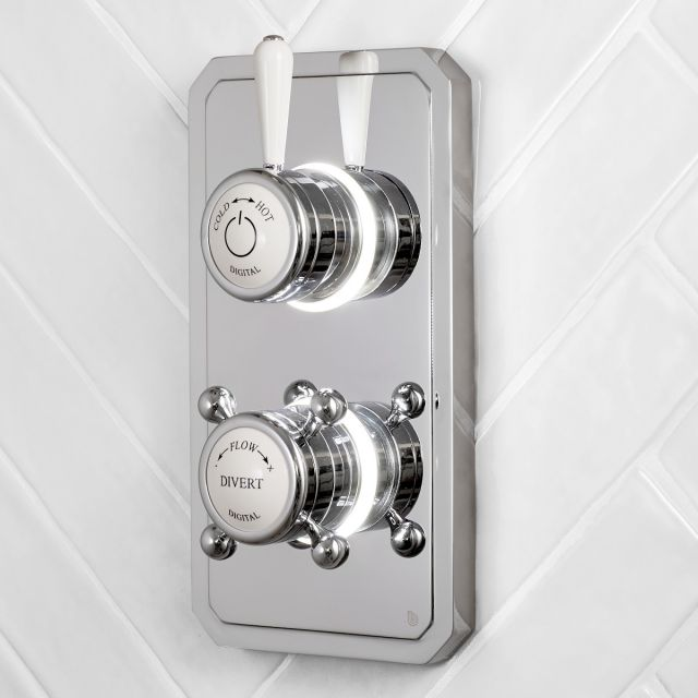 Bathroom Brands Classic 1910 Dual Outlet Digital Shower Valve