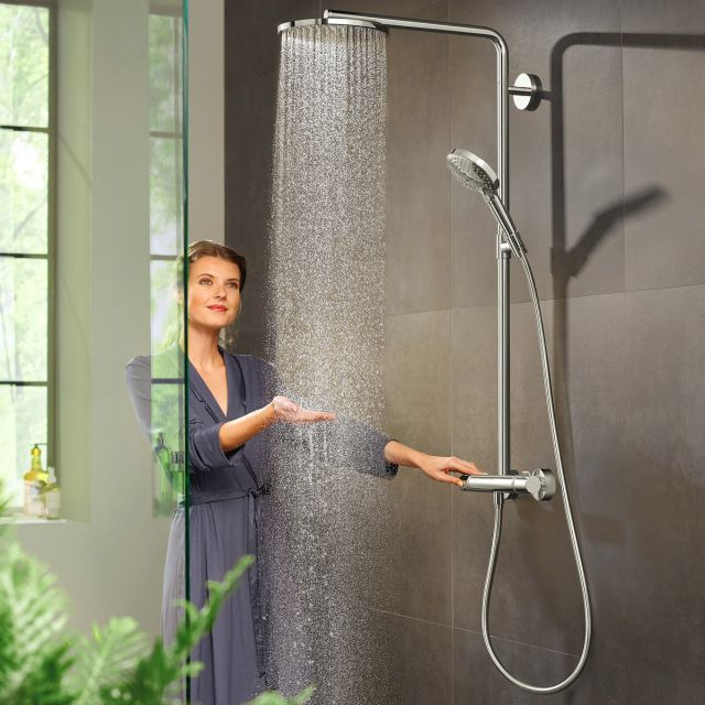Hansgrohe Raindance Select S Showerpipe 240 1 Jet with PowderRain