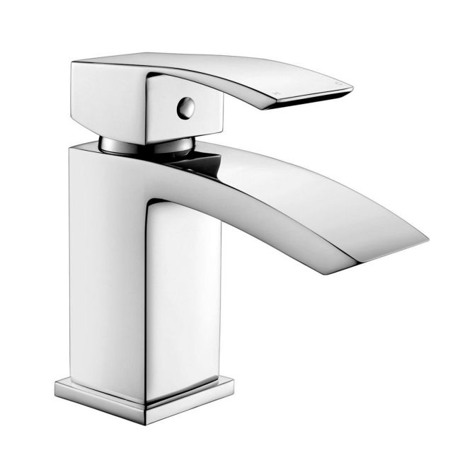 Origins Crest Basin Mixer Tap with Push Waste