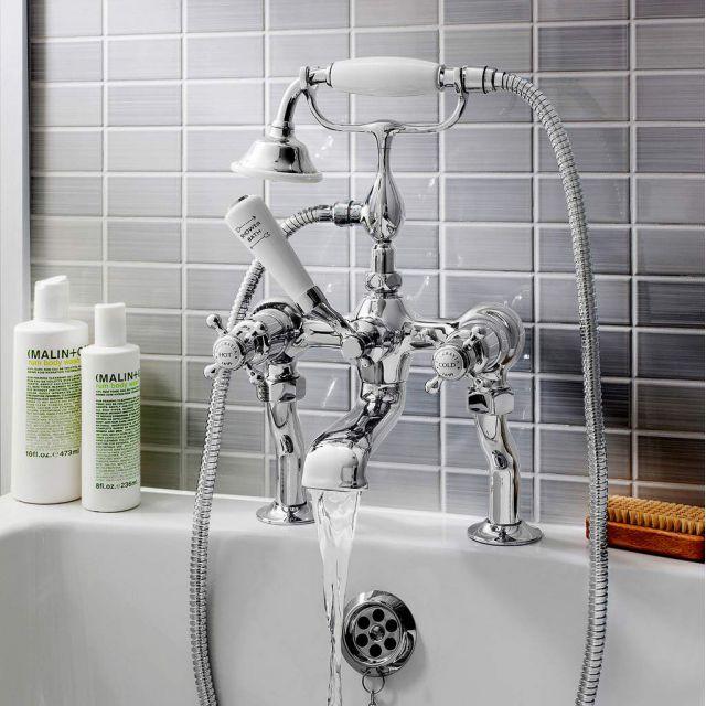 Crosswater Belgravia Crosshead Bath Filler with Shower Handset