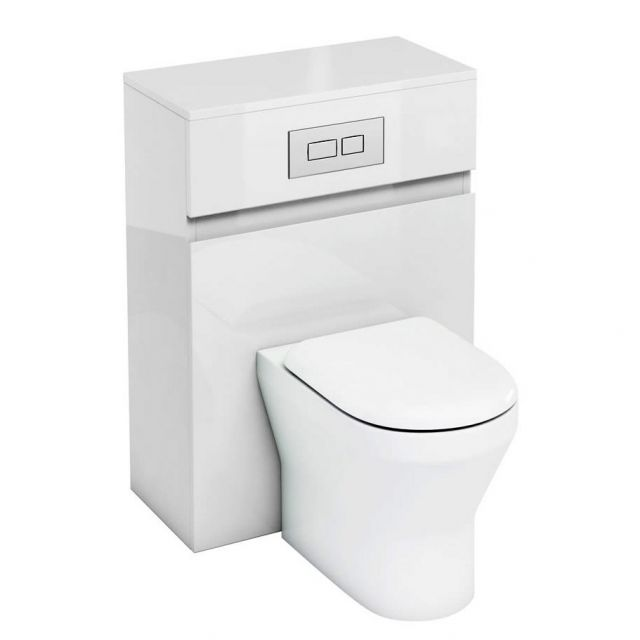 Britton  D30 WC Unit with Flush Plate for Back to Wall Toilets