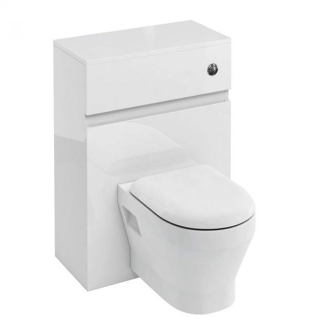 Britton D30 WC Unit with Flush Button for Wall Hung Toilets