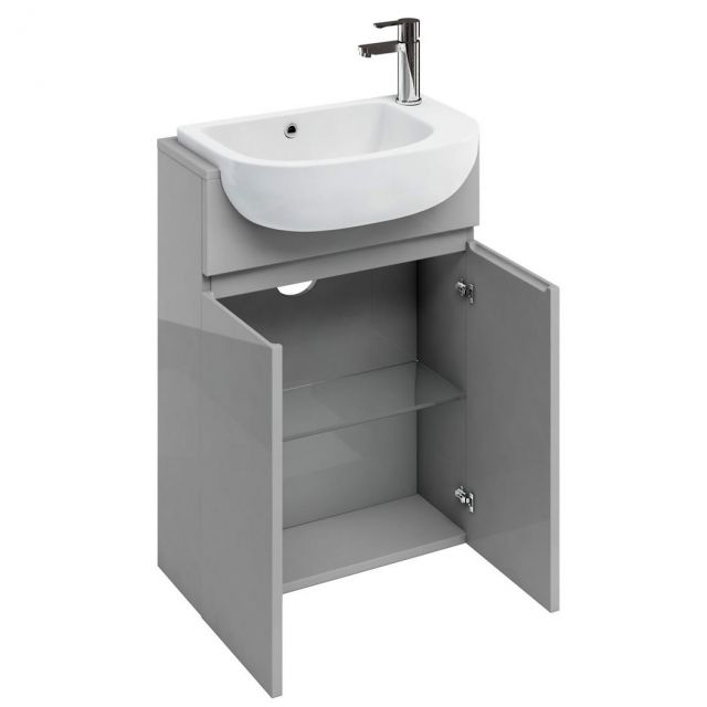 Britton Compact Double Door Washbasin Unit