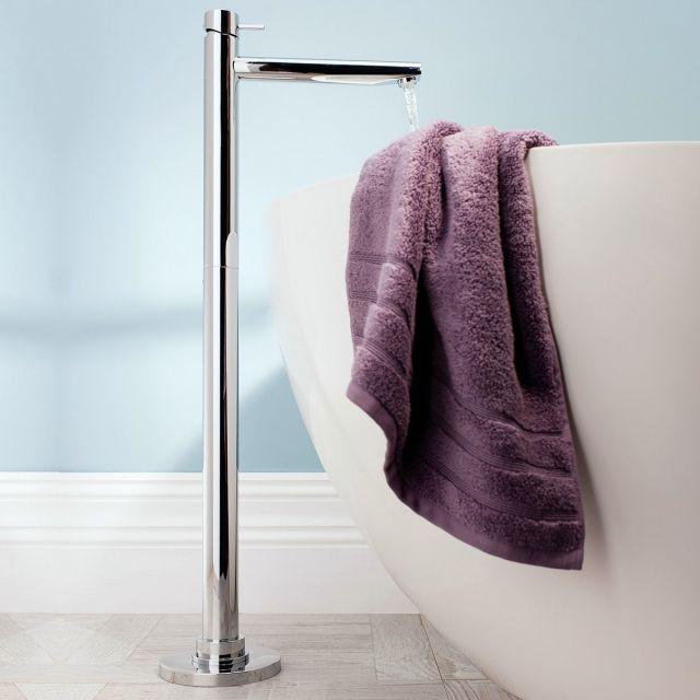 Crosswater Kai Lever Floor Standing Bath Filler