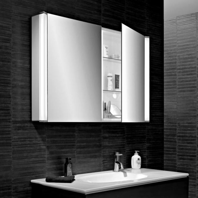 Schneider ELUALINE LED Mirrored Cabinets