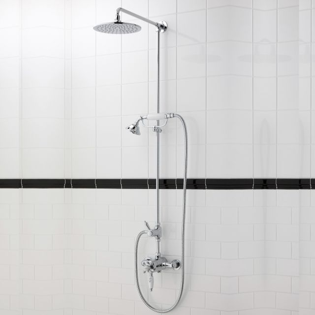 Imperial Westminster Exposed Shower Valve with Amena Shower Head and Handset