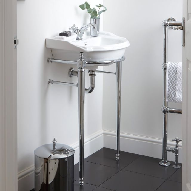 Imperial Drift Cloakroom Basin Stand with Towel Rail and Basin