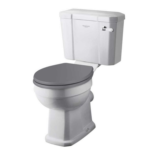 Bayswater Fitzroy Comfort Height Close Coupled Toilet with Ceramic Lever Flush - BAYC016