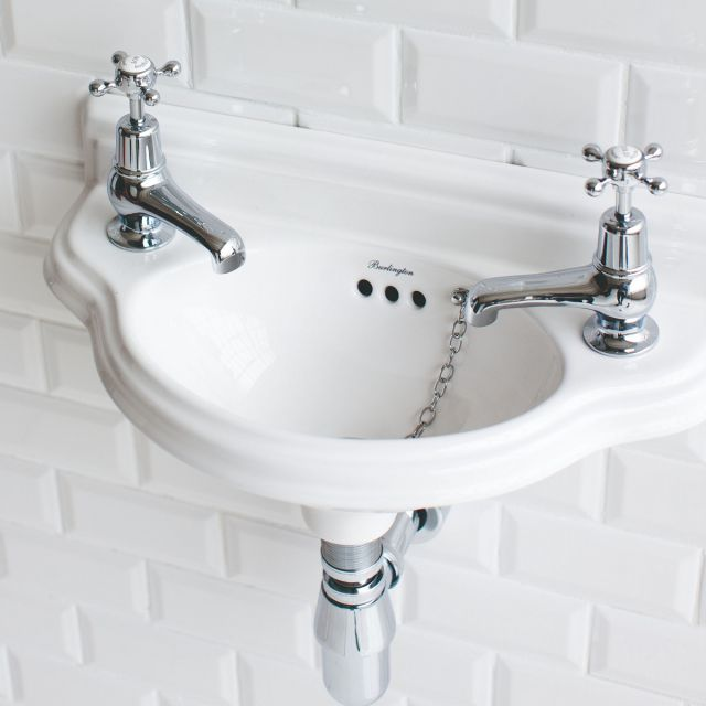 Burlington Edwardian Curved Cloakroom Basin