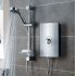 Triton Aspirante Electric Shower - Brushed Steel