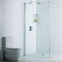 Roman Decem Wetroom Panel with Exposed Wall Profile