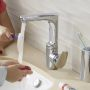VitrA Z Line Side Lever Swivel Basin Tap