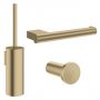 Crosswater MPRO Brushed Brass Bathroom Accessory Pack