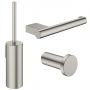 Crosswater MPRO Brushed Steel Bathroom Accessory Pack