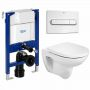 Roca Debba Wall Hung Rimless Round WC and Frame Package