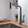 Hansgrohe Metris Select Kitchen Mixer 320 with Pull-out Spout