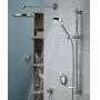 Aqualisa Quartz Smart Concealed Shower with Wall Mounted Fixed & Adjustable Heads