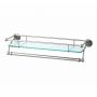 Perrin and Rowe Traditional Glass Shelf with Towel Rail